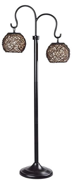 Kenroy Home Castillo Outdoor Floor Lamp, Bronze Finish Outdoor Floor Lamps, Tall Floor Lamps, Bronze Floor Lamp, Outdoor Chandelier, Outdoor Flooring, Outdoor Lighting, Woven Shades, Bronze Finish, Lighting Design