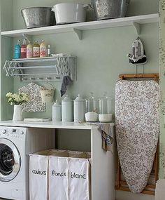 Sortering av vask. Og fin veggfarve