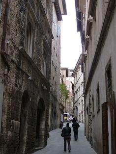 Via dei Priori, Perugia,Umbria, Italia