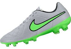 Available at www.soccerpro.com. Nike Tiempo Legacy FG Soccer Cleats - Silver Storm