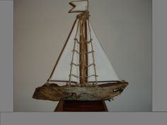 Driftwood table art driftwood sailboat sailing boat beach decor beach house Home Sweet Home decor living room wedding gift nautical gift by AlternativeByGeorge on Etsy