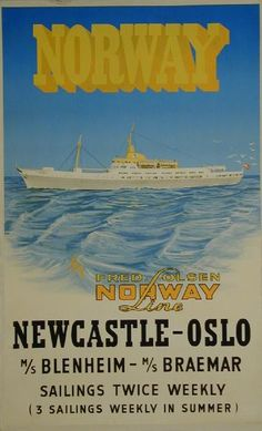 Norway - Fred Olsen Norway Line - Newcastle-Oslo - -