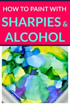 "You can make beautiful ""painted"" tiles with Sharpies and alcohol. This full tutorial will show you how to paint with Sharpies and alcohol!"