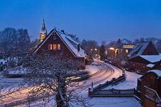 Hamburg-Finkenwerder im Winter