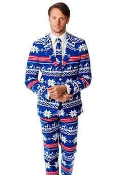 Take That Ugly Christmas Sweater to the Next Level. The Next Level Being Suits. Yes Randall, you shall have one.