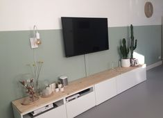 Existing Ikea TV furniture with oak boards and space for TV decoders. Living Room Modern, Home Living Room, Interior Design Living Room, Living Room Decor, Ikea Tv, Tv Furniture, Furniture Buyers, Office Furniture, Home Decor Inspiration