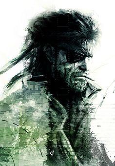 Big Boss Metal Gear, Snake Metal Gear, Metal Gear Solid Series, Metal Gear Survive, Metal Gear Games, Metal Gear Rising, Kojima Productions, Gear Art, Video Game Art