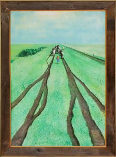 no grass grows on the beaten path William Kurelek