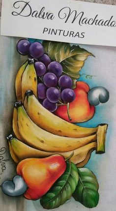 Fruit Painting, Fabric Painting, Diy Painting, Art Drawings For Kids, Drawing For Kids, Diy Canvas, Canvas Wall Art, Colour Pencil Shading, Indian Drawing