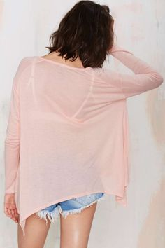 On it Henley Tee - Pink - Tees | Basics