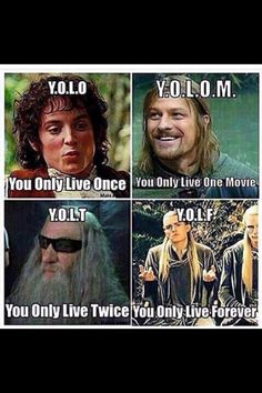 YOLO, according to Lord of the Rings