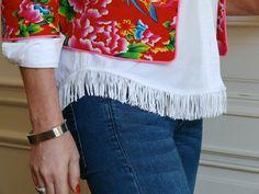 tuto coudre des franges sur une simple petite chemise blanche