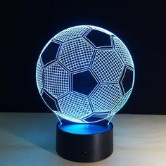 z7 Colors Changing Soccer Ball Light Football 3D Lamp