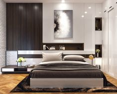 Giường Gỗ Công Nghiệp Đẹp Hiện Đại - Giường Ngủ Gỗ An Cường Master Bedroom Interior, Modern Master Bedroom, Modern Bedroom Furniture, Wood Bedroom, Minimalist Bedroom, Home Interior, Beds Master Bedroom, Apartment Master Bedroom, White Bedroom