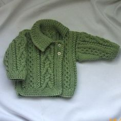 Deirdre Asymmetrical Cardigan for babies/toddlers, PDF knitting pattern by PurplePup on Etsy You're going to love Deirdre Asymmetrical Cardigan by designer Christina D.Aisling aran sweater with cross-over collar for babies or toddlers - PDF knitting Knitting For Kids, Baby Knitting Patterns, Baby Patterns, Free Knitting, Baby Cardigan, Cardigan Pattern, Baby Vest, Toddler Sweater, Knit Baby Sweaters