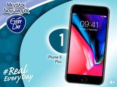 Διαγωνισμός EveryDay με δώρο Iphone 8 plus, ακουστικά και power banks! http://getlink.saveandwin.gr/9rj