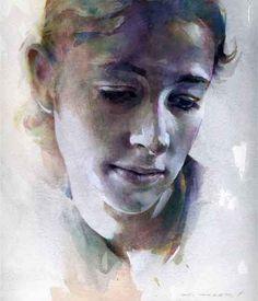 The Watercolour Log: Stan Miller Watercolor Artists, Watercolor Portraits, Watercolor Techniques, Watercolor Paintings, Watercolors, Watercolor Ideas, Guache, Kandinsky, Art And Illustration