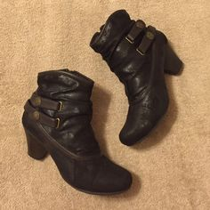 Bear Traps Booties Cute booties worn a couple times. Size 7.5. Soft feel. 2 inch heel. Bear Traps Shoes Ankle Boots & Booties