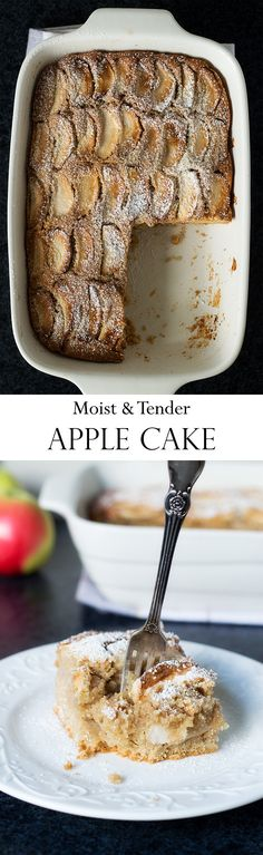 Moist And Tender Apple Cake | YummyAddiction.com