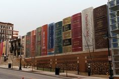 This is the library in Kansas City - made from books!  Can you believe it? Can't wait to see it!