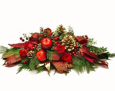 Apples and Berries Christmas Centerpiece