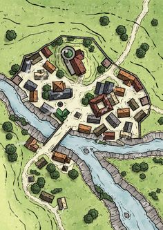 A website and forum for enthusiasts of fantasy maps mapmaking and cartography of all types. We are a thriving community of fantasy map makers that provide tutorials, references, and resources for fellow mapmakers. Fantasy Map Making, Fantasy City Map, Fantasy Village, Fantasy Rpg, Dungeons And Dragons Homebrew, D&d Dungeons And Dragons, Village Map, Urban Village, Dnd Dragons