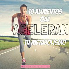 Te pasa que a pesar de hacer ejercicio y comer con medida, ganas peso con facilidad? El metabolismo es la habilidad de tu cuerpo de transformar la comida en energía. Cuando tu metabolismo funciona eficientemente tienes más energía, limpias mejor el cuerpo y no aumentarás de peso tan facilmente. Te damos la lista estrella de los 10 alimentos naturales que aceleran el metabolismo y como consumirlos.
