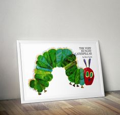 The Very Hungry Caterpillar Poster - Inspired by Novel created by Eric Carle – MANY SIZES on Etsy, $4.99