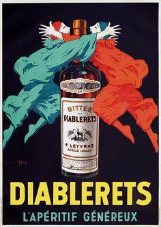 Diablerets, l'apéritif généreux - 1945 - (Jean d'Ylen) -