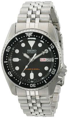 Seiko SKX013K2 Black Dial Automatic Divers Midsize Watch $260 37mm