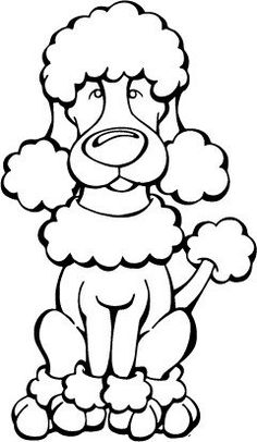 Poodles – Smart Active and Proud Poodle Drawing, Cat Drawing, Drawing Animals, Coloring For Kids, Coloring Books, Coloring Pages, Poodles, Dog Table, Dog Quilts