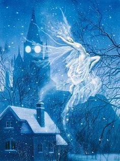 David Delamare Snow Queen Fairy Greeting Card -- Set of 6 Snow Fairy, Winter Fairy, Fairy Gifts, All Nature, Snow Queen, Ice Queen, Fairy Art, Winter Solstice, Magical Creatures