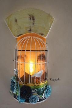 Mireille Divjak designed this amazing lamp using Key Lime Notheworthy.#BoBunny, @Mireille Divjak
