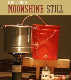 Make a Moonshine Still   Survival Prepping Ideas, Survival Gear, Skills & Emergency Preparedness Tips - Survival Life Blog: survivallife.com #survivallife