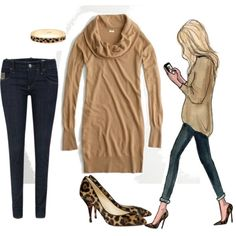 Camel and leopard. Yet another reason to buy the leopard shoes I resisted LAST fall