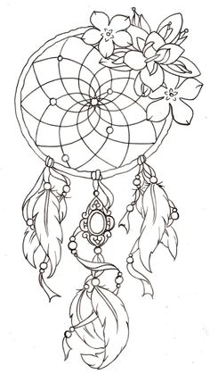 Dream catcher tattoo. - I want!!! In full color <3