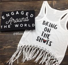 Food and Wine Engaged Around The World Epcot Engagement - Couples Shirt
