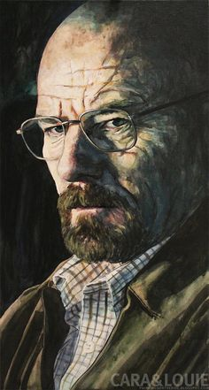 Walter White from Breaking Bad 5  Ink and Paint on by thegryllus, $210.00