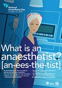 National Anaesthesia Day - ANZCA Medical College, Clinic, Medicine, October, Day, Health, Health Care, Salud, Medical