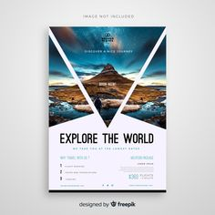 Design cover flyer and brochure business template for annual report Graphic Design Flyer, Design Brochure, Flugblatt Design, Book Design, Media Design, Modele Flyer, Template Flyer, Business Flyer Templates, Business Ideas