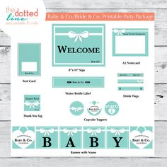 d31a08164b67 Items similar to Baby   Co. Party Printable - Can also be used for a bride!  on Etsy. Shower ...