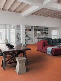 Consigli per la casa e l' arredamento: Come arredare in stile moderno con un pavimento in cotto