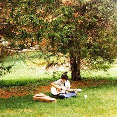Camilla under the tree