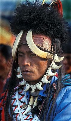 *Naga man photographed during a festival in Myanmar, Burma.