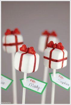 Pretty Present Cake Pops