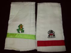 Infant Boy Burp cloths  set of two by ASewSewShop on Etsy, $5.00