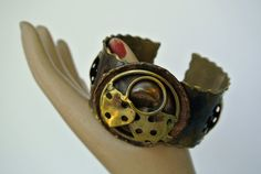 Brutalist Mexican Metal Art Cuff Bracelet – Massive Abstact Elaboration – Impact Bracelet - Brass/Copper by OnceTwiceVintageWare on Etsy