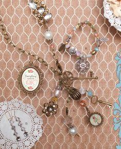 A. Adrienne (necklace) $26 B. Clarissa (bracelet) $16 C. Vivi (pendant) $10 D. Michelle (earrings) $12  Order yours today!:: http://www.plunderdesign.com/desireeweiss   #plunderbydesiree #plundermepretty #plunderdesign #jewelry #vintage