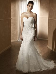 Mia Solano Lace Wedding Gown | Now available to try on at The Hope Chest Bridal - Ham Lake, MN