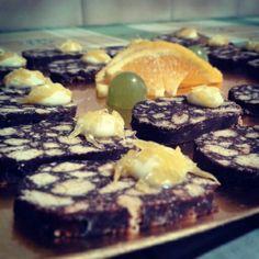 Salame al #cioccolato con crema all'arancia